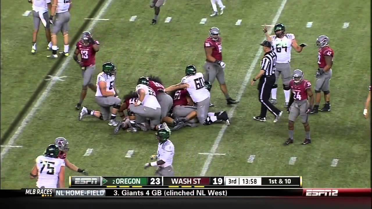 Kenjon Barner vs Washington State (2012)