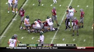 Kenjon Barner vs Washington State (2012)