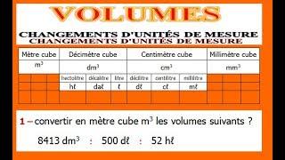 Maths 5ème - Volumes convertir d'unités de mesure Exercice 3