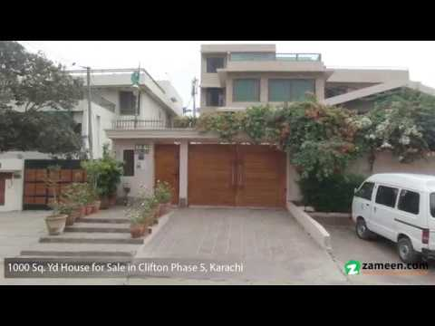 1,000 Sq. Yd. BUNGALOW FOR SALE IN BLOCK 5  CLIFTON KARACHI