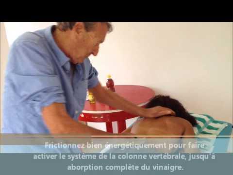 Massage tonique du dos, au vinaigre de cidre «Spécial UBERTI»