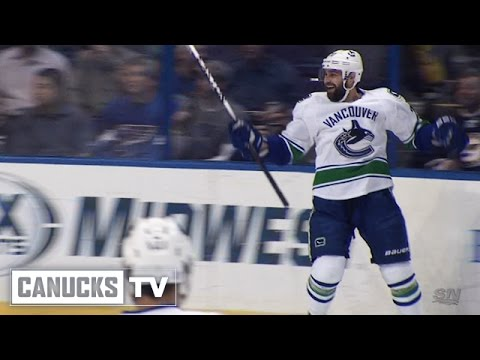 goal - The Canucks waste no time in striking first with Chris Higgins opening the scoring just 41 seconds in. Vancouver gets a goal on their first shot of the game as Alex Burrows breaks in and Higgins...
