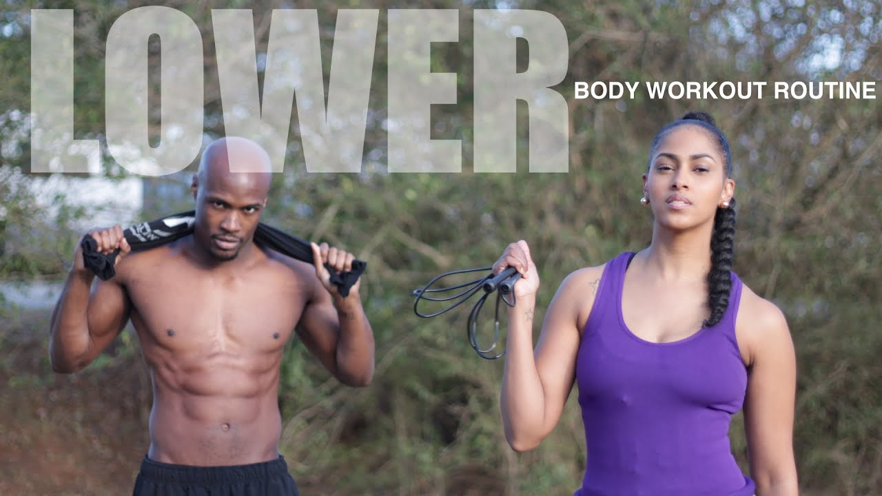 LOWER BODY WORKOUT ROUTINE FOR WOMEN AT HOME   WARM UP AND COOL DOWN INCLUDED