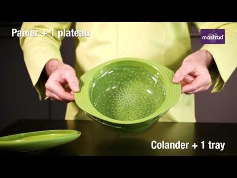 F70018 - Cuit-vapeur - Panier verre + Plateau + couvercle silicone sans BPA
