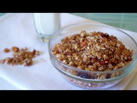 ♥ Гранола ♥ Домашние мюсли - Полезный и Очень Вкусный Завтрак!