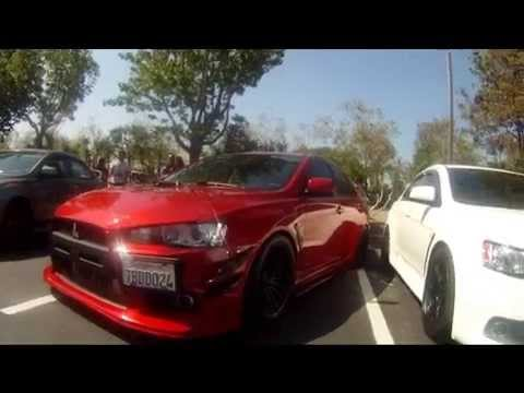 Wheels N Meals Car Meet Milpitas CA Edgie's Billiards 3-24-14 (видео)