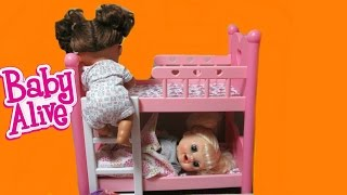 Video BABY ALIVE Dolls Sneak out of Bed Compilation: Real Surprises Doll+Learns to Potty+Baby Go Bye Bye MP3, 3GP, MP4, WEBM, AVI, FLV Oktober 2017