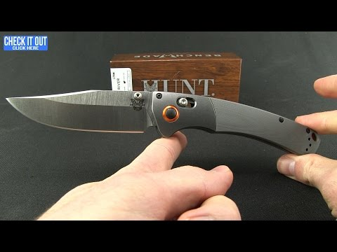 "Benchmade Hunt Crooked River AXIS Lock Knife Dymondwood (4"" Satin) 15080-2"
