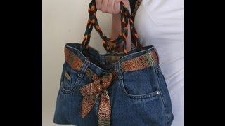 DIY Fashion Jeans BAG ( recycled denim) - YouTube