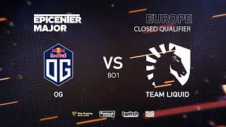 OG vs Team Liquid, EPICENTER Major 2019 EU Closed Quals , bo1 [GodHunt & Inmate]