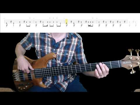 Sting - Englishmen In New York Bass Cover with Playalong Tabs In Video
