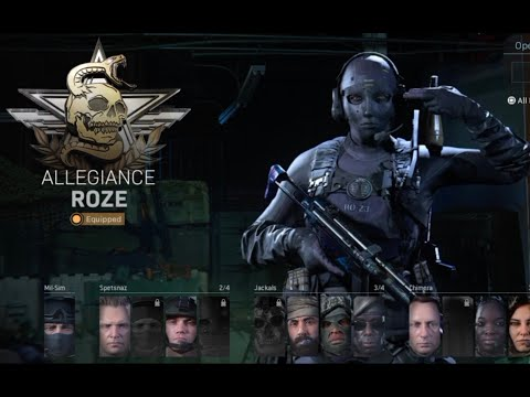 Near Dark How To Unlock! Roze Allegiance operator Modern Warfare