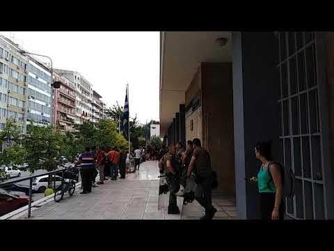Video - Δικαστήρια Θεσσαλονίκης: Συγκέντρωση αλληλεγγύης για Σακκά και Δημητράκη