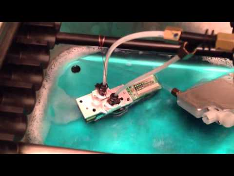 how to unclog dx4 printhead
