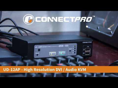 ConnectPRO UD-12AP High Definition VIDEO, USB, AUDIO DVI KVM w/ DDM & Multi-hotkey