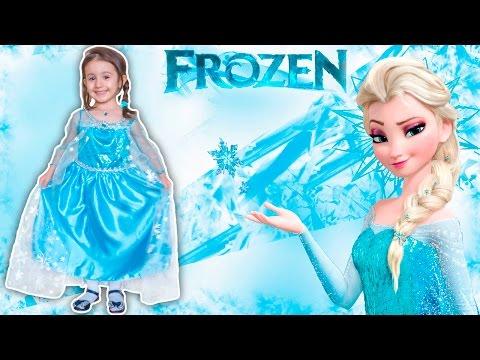 Принцесса Эльза. Седа меряет платье Эльзы. Видео для детей. Седа ТВ