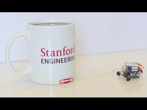 Badass 12-gram robot pulls full coffee mug 2,000 times its weight