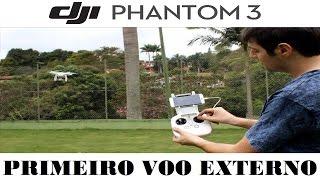 Veja um simples passo a passo de como fazer seu primeiro voo externo com o DJI Phantom 3.