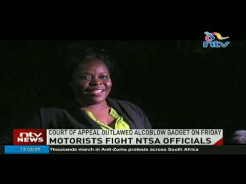 Motorists pelt NTSA officials with stones along Lang'ata highway (видео)