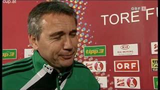 Peter Pacult im Interview nach Cup-Aus gegen Kärnten