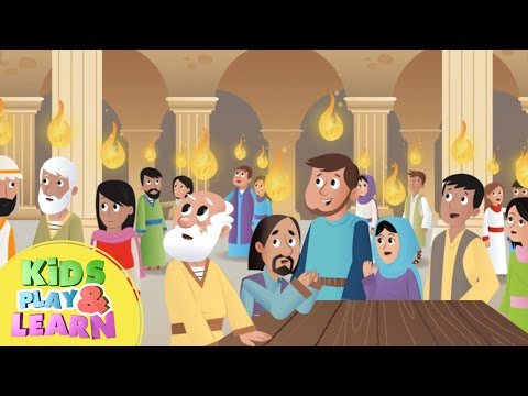 The Holy Spirit comes - Pentecost - Bible Story For Kids & Children
