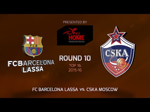 Highlights: Top 16, Round 10, FC Barcelona Lassa 100-98 CSKA Moscow