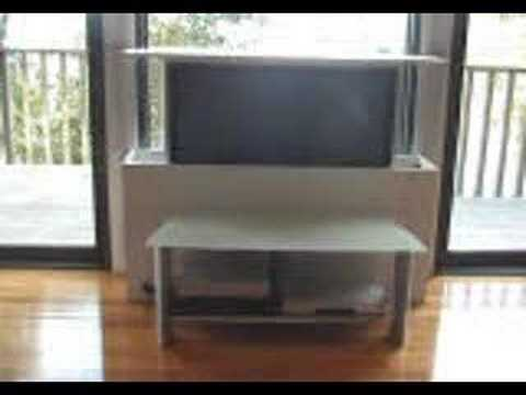 Motiontv allows you to raise and lower a flat panel TV or monitor from within a piece of furniture
