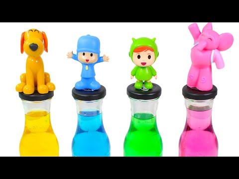 Pocoyo Toys Episodes   Learn colors with bottles and Pocoyo characters  Pocoyo in English