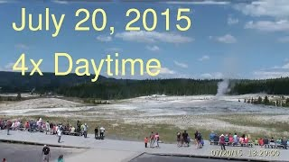 July 20, 2015 Upper Geyser Basin Daytime 4x Streaming Camera Captures