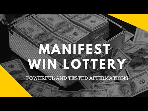 "Most Powerful Affirmation:  Jackpot Lottery  ""millionaire Mindset"""