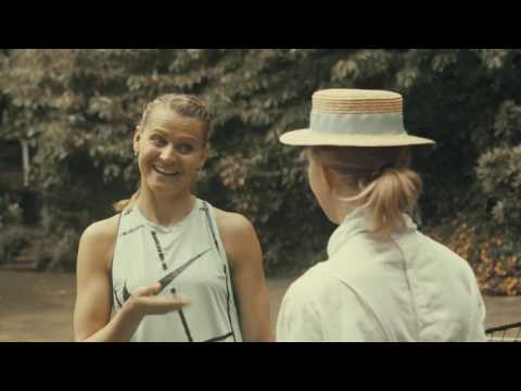 Lucie and Maud Watson on the oldest lawn tennis court