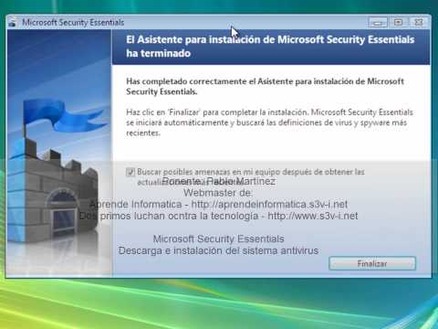 Video 1 de Microsoft Security Essentials: Sustituir Windows Defender por Windows Security Essentials
