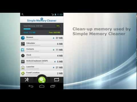 Video of Simple Memory Cleaner