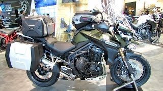 10. 2014 Triumph Tiger Explorer 1200 XC Walkaround - 2013 EICMA Milan Motorcycle Exhibition