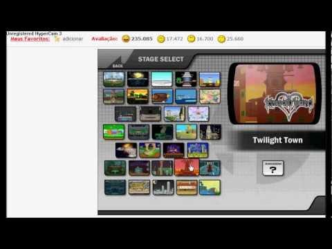 TESTANDO JOGOS 5#  Super Smash Flash 2 + de 40 minutos :O