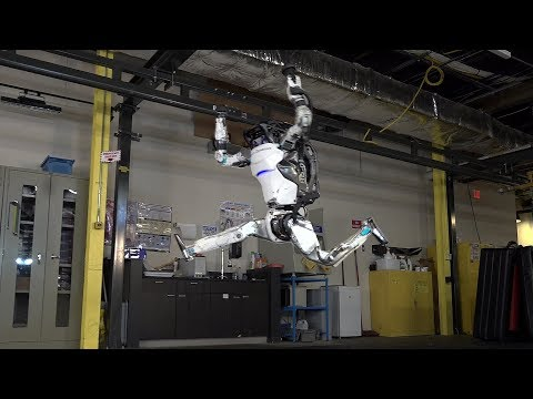 Robot, Atlas, Boston Dynamics, rollover, course à obstacles
