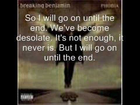 Breaking Benjamin- Until the end