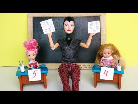 ПРИЗНАВАЙТЕСЬ, ЧЬИ ШПАРГАЛКИ?! Мультик #Барби Школа Куклы Игрушки Для девочек Ikuklatv (видео)