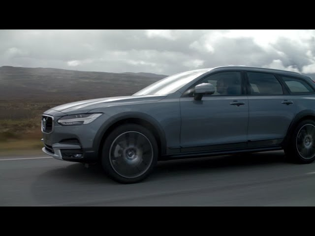 New Volvo V90 Cross Country Driving Footage