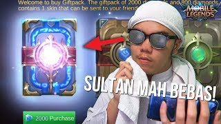 Video SULTAN BUKA BUKU 2000 DIAMOND TANPA RAGU!?!? - Mobile Legends Indonesia #18 MP3, 3GP, MP4, WEBM, AVI, FLV Oktober 2017