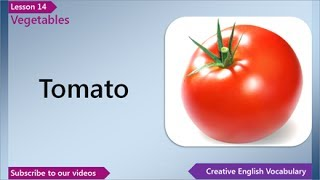 Vegetables, English Vocabulary Lesson 14