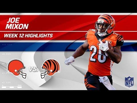 Video: Joe Mixon's 165 Total Yards & 1 TD vs. Cleveland!   Browns vs. Bengals   Wk 12 Player Highlights