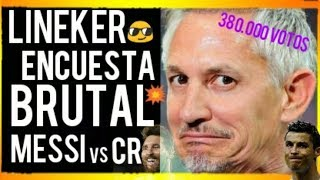 ¡¡MESSI DESTROZA A CRISTIANO RONALDO EN ENCUESTA DE LÍNEKER!! ¡BREAKING NEWS! FCB NOTICIAS