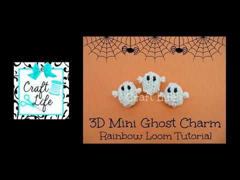 Craft Life 3D Mini Halloween Ghost Charm Tutorial on One Rainbow Loom