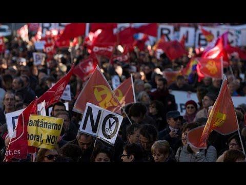 Ισπανία: Πορεία κατά της λιτότητας