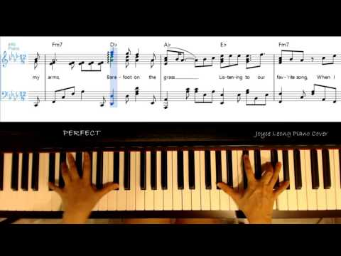 Ed Sheeran - Perfect - Piano Cover & Sheets (lyrics on-screen)