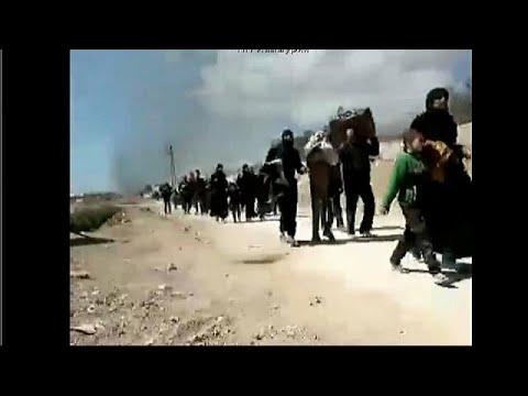 Refugees flee Eastern Ghouta