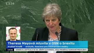 Mayová mluvila v OSN o brexitu