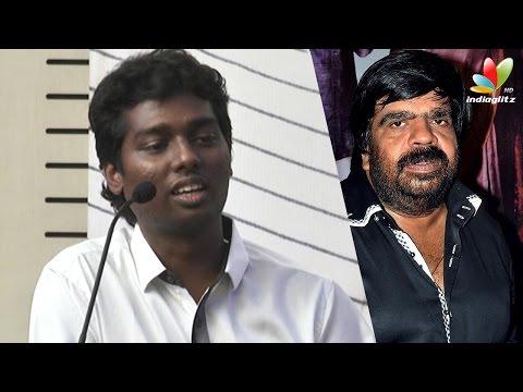Atlee-reveals-why-T-Rajendar-did-not-attend-the-audio-launch-Vijay-Samantha-Amy-Press-Meet