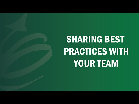 Sharing Best Practices With Your Team - Remote Leadership Institute